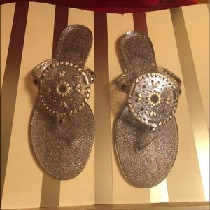 2e7bb586235b Women Clear Glitter Jelly Sandals on Poshmark